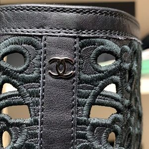 CHANEL Shoes - Authentic Chanel. leather laser Cut sneaker boots